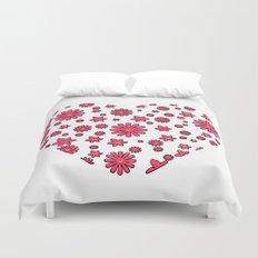 Floral Heart  Duvet Cover