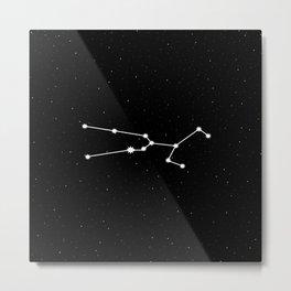 Taurus Astrology Star Sign Metal Print