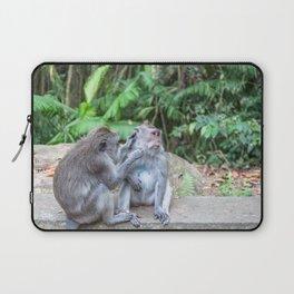 Crab-eating Macaque IV (Balinese Monkey) Laptop Sleeve