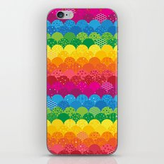 Waves of Rainbows iPhone Skin