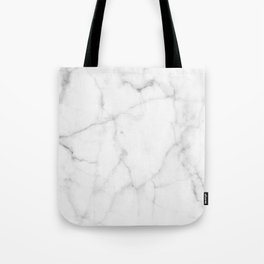 Pure Solid White Marble Stone All Over Tote Bag