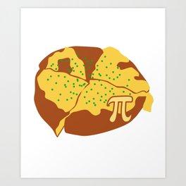 Science Pizza Pi Funny Nerd Algebra Sign Symbol Pun Art Print