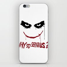Joker - Why so serious? iPhone & iPod Skin