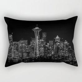 Seattle City Lights Rectangular Pillow