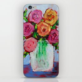 Pink Peonies iPhone Skin