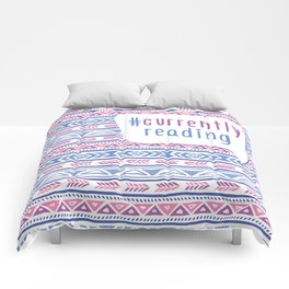 #CurrentlyReading Triabal print Comforters