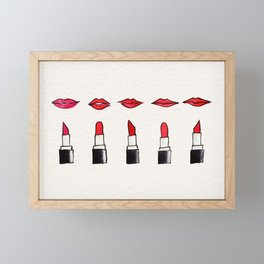 Lips and lipsticks Framed Mini Art Print
