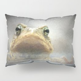 Frog from Front Painting Style Pillow Sham