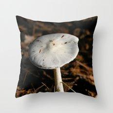 mushroom in the sun Throw Pillow