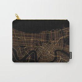 Black and gold New Orleans map Carry-All Pouch