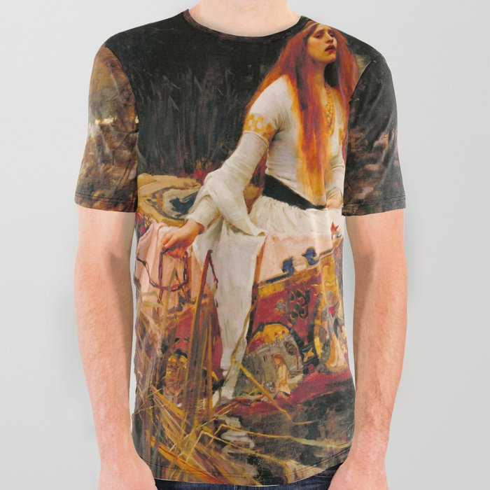 John_William_Waterhouse_The_Lady_of_Shalott_All_Over_Graphic_Tee_by_Alexandra_Arts__Large