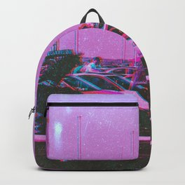 Cyberpunk 80's Parking Aesthetic Backpack