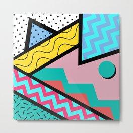 80s Memphis Design Pattern Metal Print