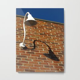 White Lamp With A Dark Secret Metal Print