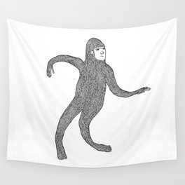 Bigfoot Doing The Wave Wall Tapestry
