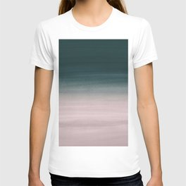 Touching Teal Blush Watercolor Abstract #1 #painting #decor #art #society6 T-shirt