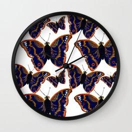 Purple Emperor Butterflies Wall Clock
