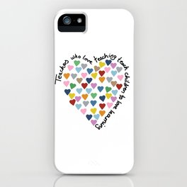Hearts Heart Teacher iPhone Case