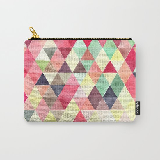 Retro Triangles Pattern 02 Carry-All Pouch