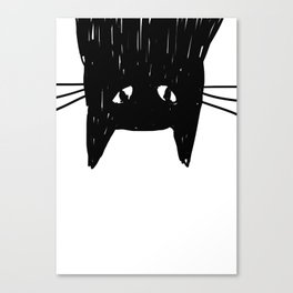 Jess The Black and White Cat Canvas Print