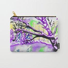 Frozen Pond Winter Landscape - Purple Palette Carry-All Pouch