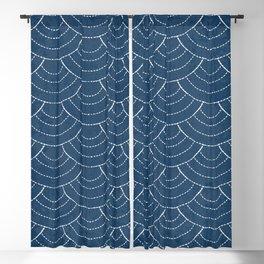 Blue sashiko pattern Blackout Curtain