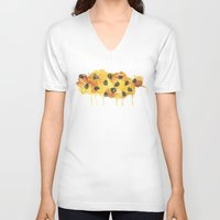 honeycomb V-neck T-shirts featuring Honeycomb by sidilts