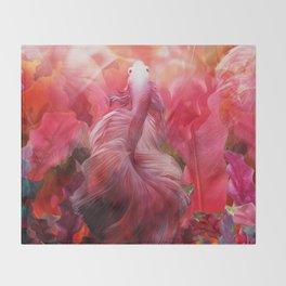 """""""Betta splendens Tropical Dream (Siam fighter)"""" Throw Blanket"""