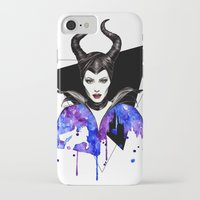 maleficent iPhone & iPod Cases featuring Maleficent by Simona Borstnar