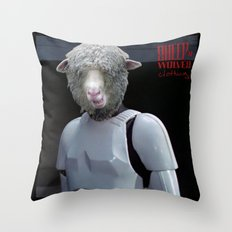 Laugh it up fuzzball Throw Pillow