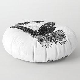Vintage Butterfly | Butterflies Art | Insect Art  | Entomology Art | Monarch Art | Swallowtail Art  Floor Pillow