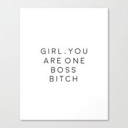 Women Gift Office Poster Boss Lady Gift For Boss Printable Art Girl Boss Office Wall Art Inspiration Canvas Print