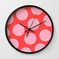 bubblegum Wall Clocks featuring Bubblegum by Color & Theory