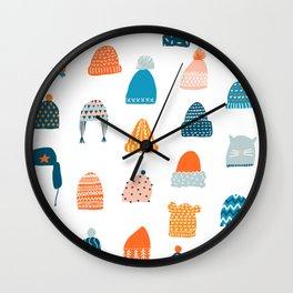 Winter hats Wall Clock