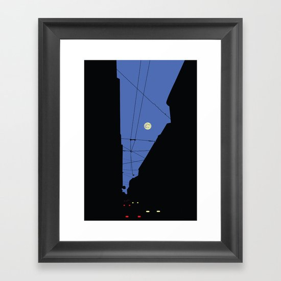 Moon lines Framed Art Print