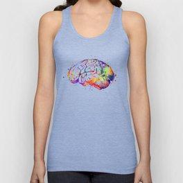 Brain Art Human Brain Anatomy Art Brain Watercolor Anatomy Decor Anatomical Brain Medical Art Unisex Tank Top