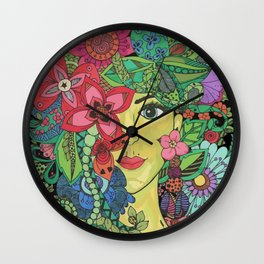 Floral nymph Wall Clock