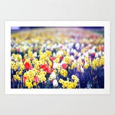 flowery view. Art Print