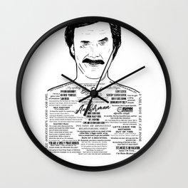 Anchorman's Ron Burgundy - 'Scotchy, Scotch, Scotch' Wall Clock