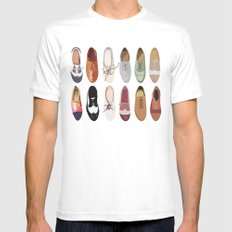 Oxfords MEDIUM White Mens Fitted Tee