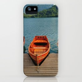 Lake Bled Boats iPhone Case