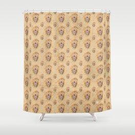Swirly Lion Shower Curtain