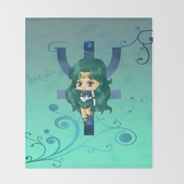 Sailor Neptune Throw Blanket