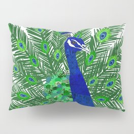 Peacock Collage Pillow Sham