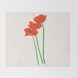 Lovely Poppies Throw Blanket