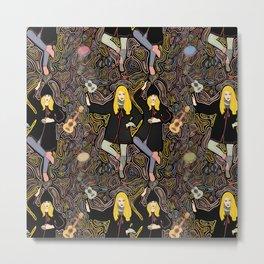 Dancing Girl Pattern Metal Print