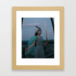 The Woman of Swords Framed Art Print