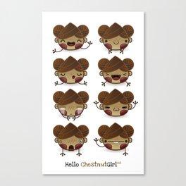 Chestnut Girl Mood Canvas Print