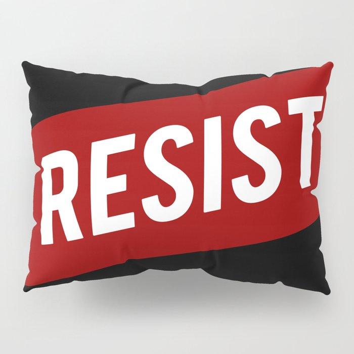 RESIST red white bold anti Trump Pillow Sham