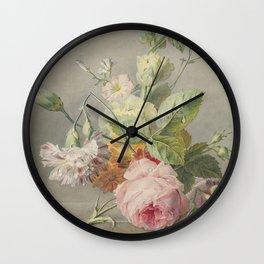 Georgius Jacobus Johannes van Os - Flower arrangement - 1800/1825 Wall Clock